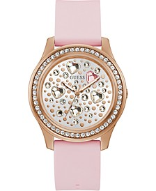 Women's Pink Silicone Strap Watch 42mm
