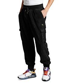 Men's Faux-Fur Cargo Pants