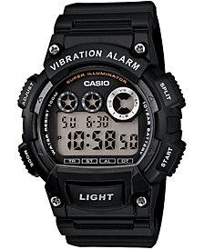 Casio Men's Digital Black Resin Strap Watch 44mm