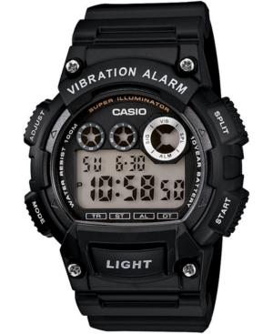 Men's Digital Black Resin Strap Watch 44mm