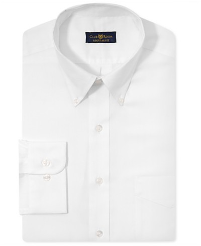 Club Room Estate Classic-Fit Wrinkle Resistant Dress Shirt, Created for Macy's