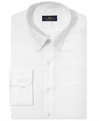 Club Room Estate Classic-Fit Wrinkle Resistant Dress Shirt ...