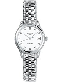 Women's Swiss Automatic Flagship Diamond Accent Stainless Steel Bracelet Watch 26mm L42744276