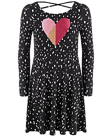 Big Girls Dot Heart Dress, Created For Macy's