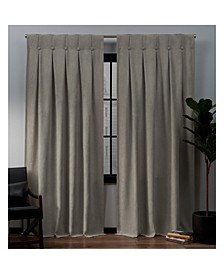 Ghent Metrosuede Inverted Pleat Button Top Curtain Panel Pair