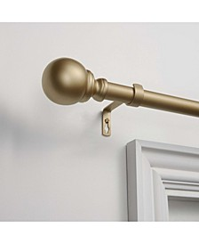 """Sphere 1"""" Curtain Rod and Coordinating Finial Set"""