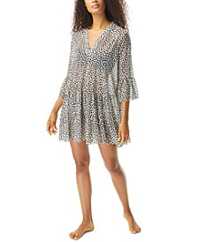 Leopard Print Swim Cover-Up Dress