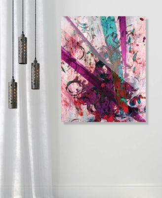 "Higgs Boson Magenta Abstract 20"" x 24"" Acrylic Wall Art Print"