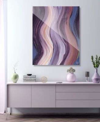 """Xcitement in Purple Abstract 16"""" x 20"""" Acrylic Wall Art Print"""