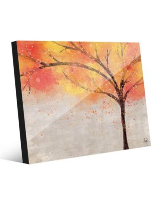Sparkle Tree in Orange Yellow Abstract 24