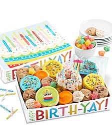 Birthday Party in a Box, with mini cake and candles
