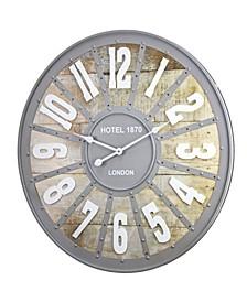 American Art Decor Hotel 1870 London Oversized Vintage-like Wall Clock