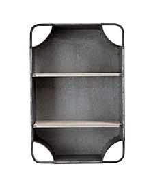 American Art Decor Galvanized Hanging 3 Shelves Cabinet