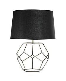 American Art Decor Ezra Geometric Cage Lamp with Drum Shade