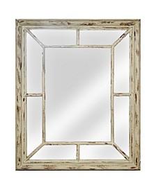 American Art Decor Rustic Farmhouse Wood Wall Mirror