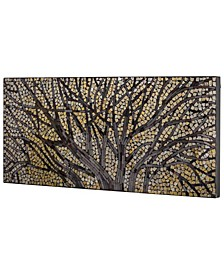 American Art Decor Tree Branches Crushed Glass Mosaic Wall Art