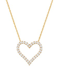 241 WEAR IT BOTH WAYS Diamond Heart Pendant Necklace (1/2 ct. t.w.) in 14k White, Yellow or Rose Gold