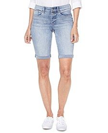 Roll-Hem Briella Denim Shorts