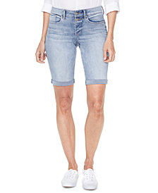 NYDJ Roll-Hem Briella Denim Shorts