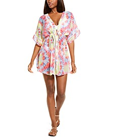 Juniors' Tie-Dyed Chiffon Kimono Cover-Up, Created for Macy's