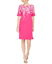Printed Boat-Neck Dress, Created For Macy's
