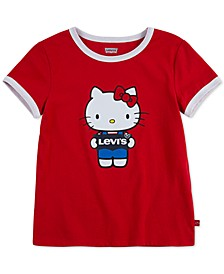 x Hello Kitty Toddler Girls Cotton Ringer T-Shirt