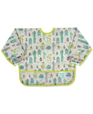 Bumkins Baby Printed Sleeved Bib In Green