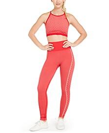 Heart-Print Seamless Sports Bra & Leggings, Created for Macy's