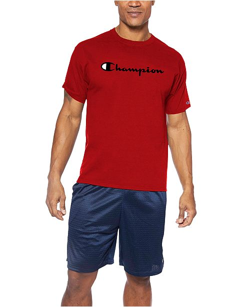 Champion Men's Big & Tall Script-Logo T-Shirt