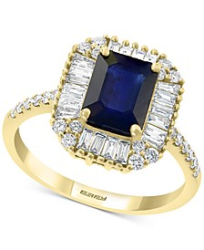 EFFY® Sapphire (1 1/2 ct. t.w.) & Diamond (1/2 ct. t.w.) Ring in 14k Gold