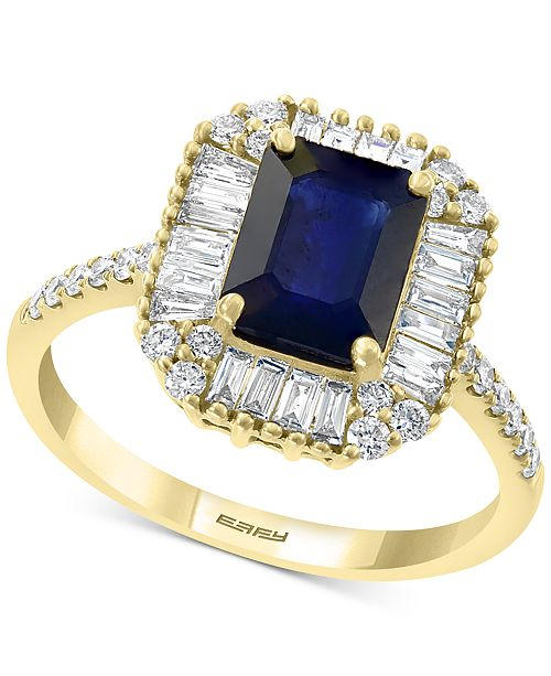EFFY Collection EFFY® Sapphire (1 1/2 ct. t.w.) & Diamond (1/2 ct. t.w.) Ring in 14k Gold