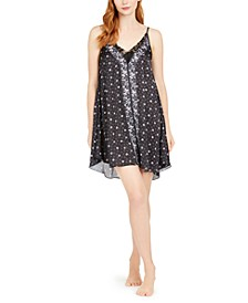 Sofie Lace-Trim Printed Chemise Nightgown, Online Only