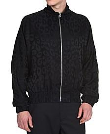 Men's Cheetah-Print Sports Jacket
