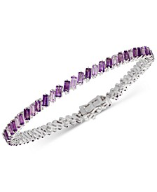 Amethyst Baguette Link Bracelet (9-1/10 ct. t.w.) in Sterling Silver