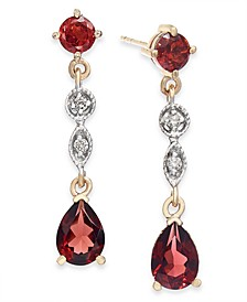 Peridot (2-1/3 ct. t.w.) & Diamond Accent Drop Earrings in 14k Gold (Also Available in Garnet)