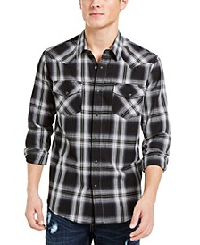 Men's Tyler Western Plaid Shirt, Created For Macy's