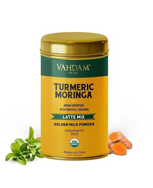 Vahdam Teas Organic Turmeric Moringa, Superfood Latte Mix 40 Servings