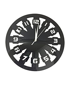 Artistic Round Acrylic Clock with Hours on The Clock Face
