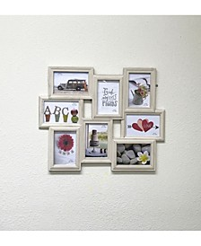 8 Photo Frames with Wood Grain 8 Photo Frames