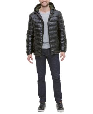 Cole Haan Coats MEN'S FAUX-LEATHER PUFFER COAT