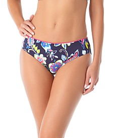 Holiday Paisley Piped Bikini Bottoms