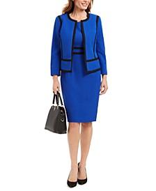 Jewel Neck Blazer & Sleeveless Sheath Dress