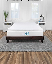 Sensor Gel Smart Zone 3-Inch Quilted Memory Foam Mattress Topper - Queen