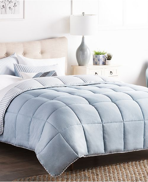 Brookside Striped Reversible Chambray Comforter Set, Twin XL