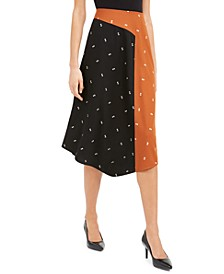Asymmetrical Twin-Print Skirt, Created for Macy's