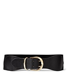 Cornwall II Croco Embossed Stretch Belt