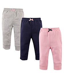 Baby Girl Tapered Ankle Pants 3-Pack