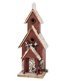 Oversized Wooden Church Birdhouse