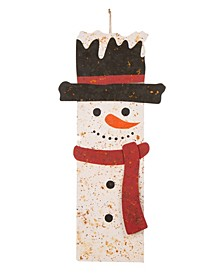 Rusty Metal Snowman Decor