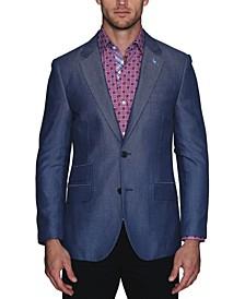 Men's Fancy Herringbone Textured Sport Coat